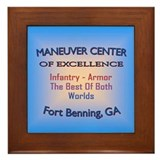 Cool Maneuver center of excellence Framed Tile