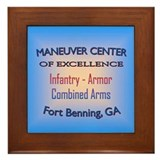 Unique Maneuver center of excellence Framed Tile