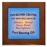 Funny Maneuver center of excellence Framed Tile