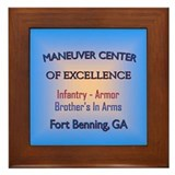 Maneuver center of excellence Framed Tile