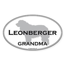 Leonberger Grandma Oval Decal