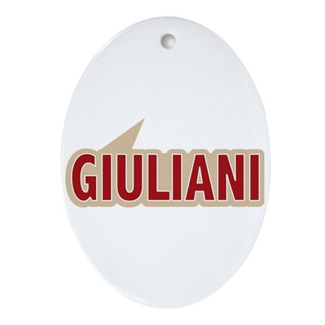 I say Vote Rudy Giuliani Red Oval Ornament