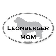 Leonberger Mom Oval Decal