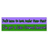Honk Louder Lilac Crowned Amazon Bumper Bumper Sticker