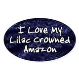 Funky Love Lilac Crowned Amazon Oval Decal