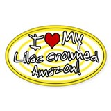 Hypno I Love My Lilac CrownedAmazon Sticker Ylw