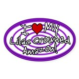 Hypno I Love My Lilac Crowned Amazon Sticker Purp