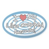 Hypno I Love My Lilac Crowned Amazon Sticker Blue