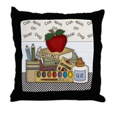 Cute School Teacher Throw Pillow