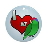 Love Green Cheeked Amazon Ornament (Round)