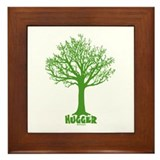 TREE hugger (green) Framed Tile