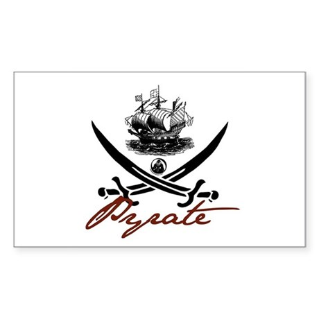 Elizabethan Pyrate Insignia Rectangle Sticker