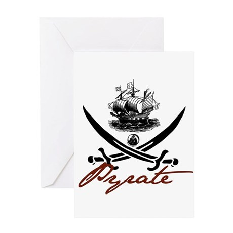 Elizabethan Pyrate Insignia Greeting Card