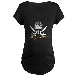 Elizabethan Pyrate Insignia Maternity Dark T-Shirt