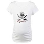 Elizabethan Pyrate Insignia Maternity T-Shirt