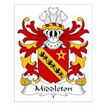 Middleton Family Crest Small Poster