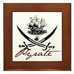 Elizabethan Pyrate Insignia Framed Tile