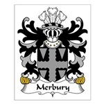 Merbury Family Crest Small Poster