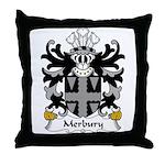 Merbury Family Crest Throw Pillow