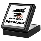 Drop Beets Not Bombs Keepsake Box