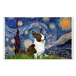 Starry Night / Welsh Corgi Sticker (Rectangle)