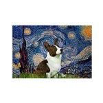 Starry Night / Welsh Corgi Rectangle Magnet (10 pa
