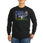 Starry Night / Welsh Corgi Long Sleeve Dark T-Shir