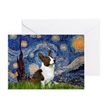 Starry Night / Welsh Corgi Greeting Cards (Pk of 2