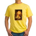 Queen / Welsh Corgi Yellow T-Shirt