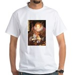 Queen / Welsh Corgi White T-Shirt