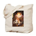 Queen / Welsh Corgi Tote Bag