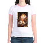Queen / Welsh Corgi Jr. Ringer T-Shirt