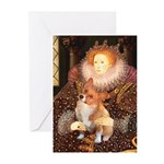 Queen / Welsh Corgi Greeting Cards (Pk of 20)