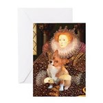 Queen / Welsh Corgi Greeting Card