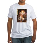 Queen / Welsh Corgi Fitted T-Shirt