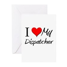 I Heart My Dispatcher Greeting Cards (Pk of 10)