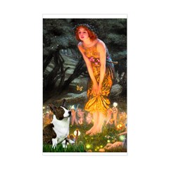 Fairies / Welsh Corgi Sticker (Rectangle)