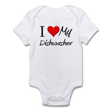 I Heart My Dishwasher Infant Bodysuit