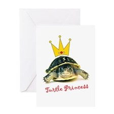 Turtle Princess Greeting Card