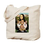 Mona / Corgi Pair (p) Tote Bag