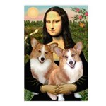 Mona / Corgi Pair (p) Postcards (Package of 8)