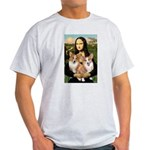 Mona / Corgi Pair (p) Light T-Shirt