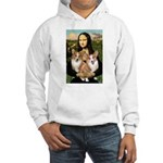 Mona / Corgi Pair (p) Hooded Sweatshirt