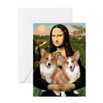 Mona / Corgi Pair (p) Greeting Card
