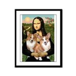 Mona / Corgi Pair (p) Framed Panel Print