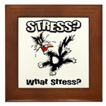 Stressed Cat Framed Tile