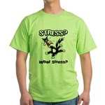Stressed Cat Green T-Shirt