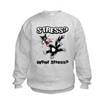 Stressed Cat Kids Sweatshirt
