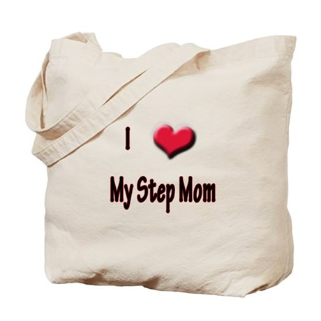 I Love (Heart) My Step Mom Tote Bag