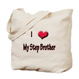 I Love (Heart) My Step Brothe Tote Bag